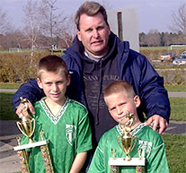 Electrician Mark McStay with his children